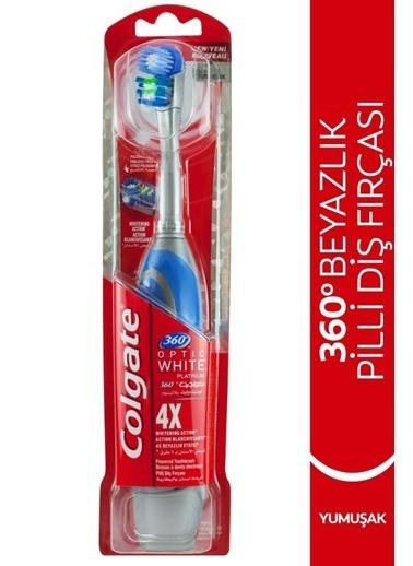 Colgate Colgate 360 Platinumoptik Latıcı Pilli Yumuşak Diş Fırçası Renksiz
